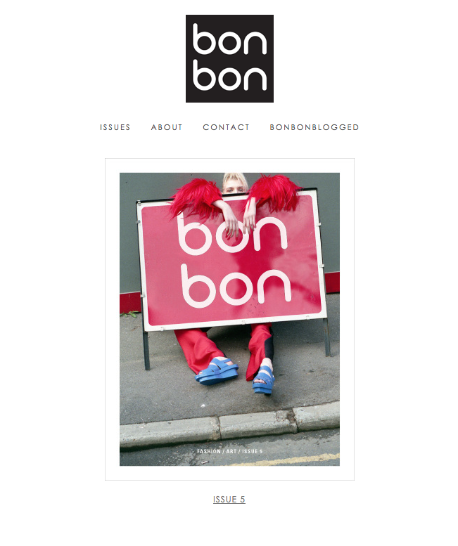 BON BON MAGAZINE ISSUE 5 COVER: CLARA MARTIN
