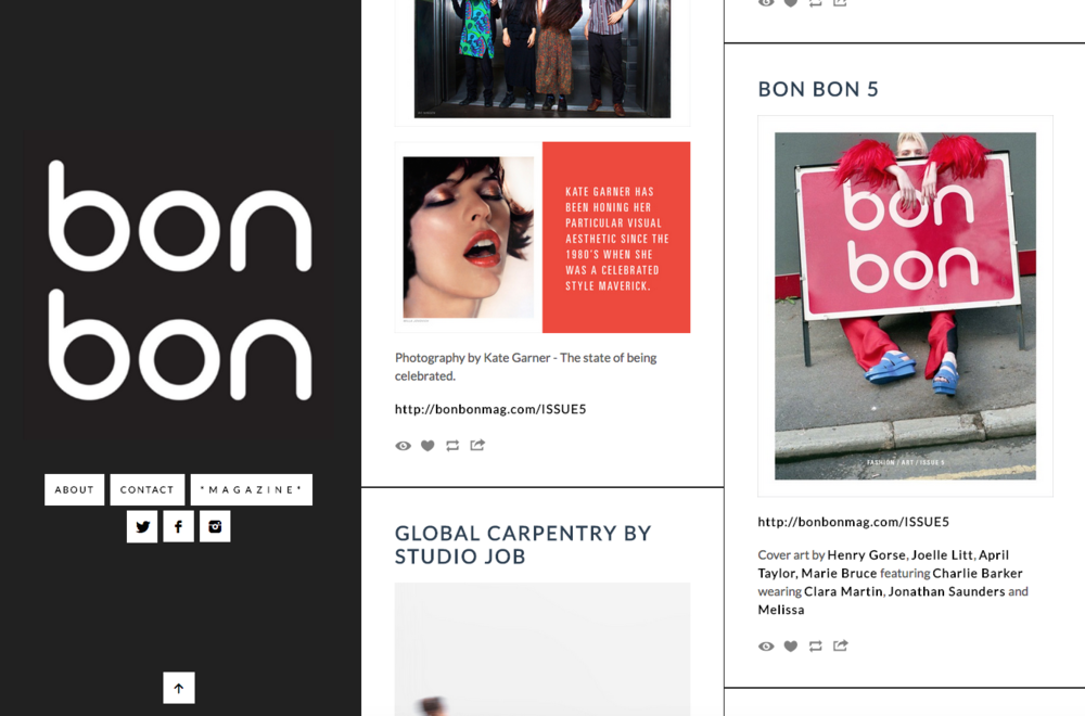 BON BON MAGAZINE ISSUE 5 BLOG FEATURE: CLARA MARTIN