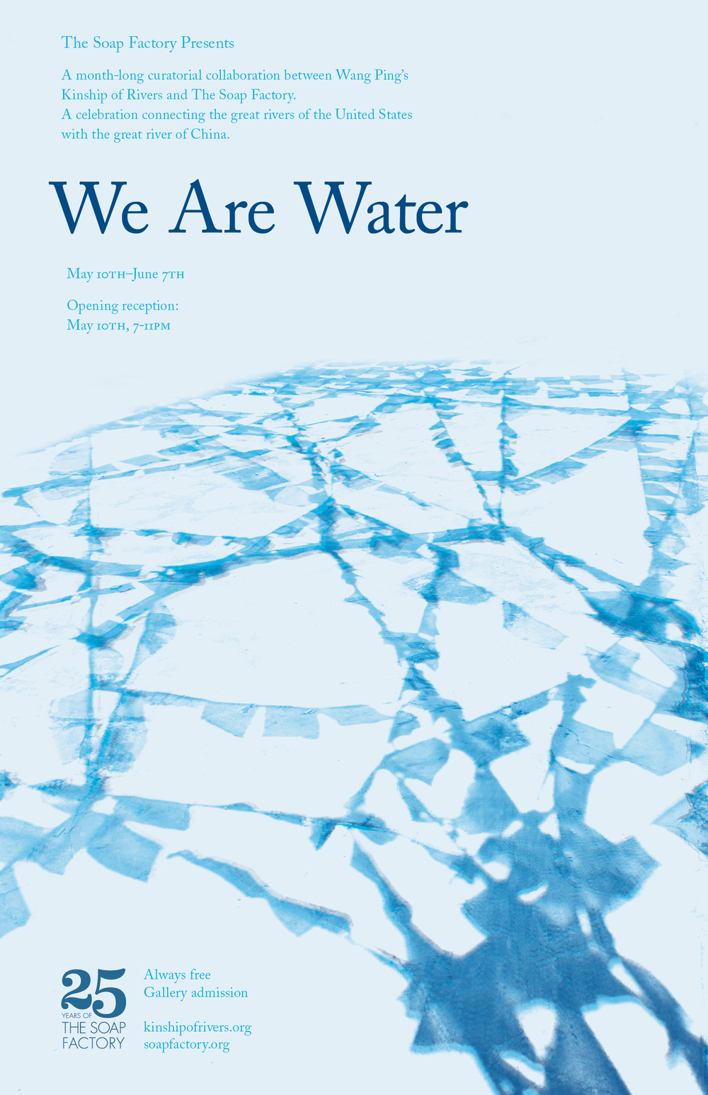 We Are Water poster. Designed by The MVA Studio, 2014. Photograph courtesy Wang Ping.