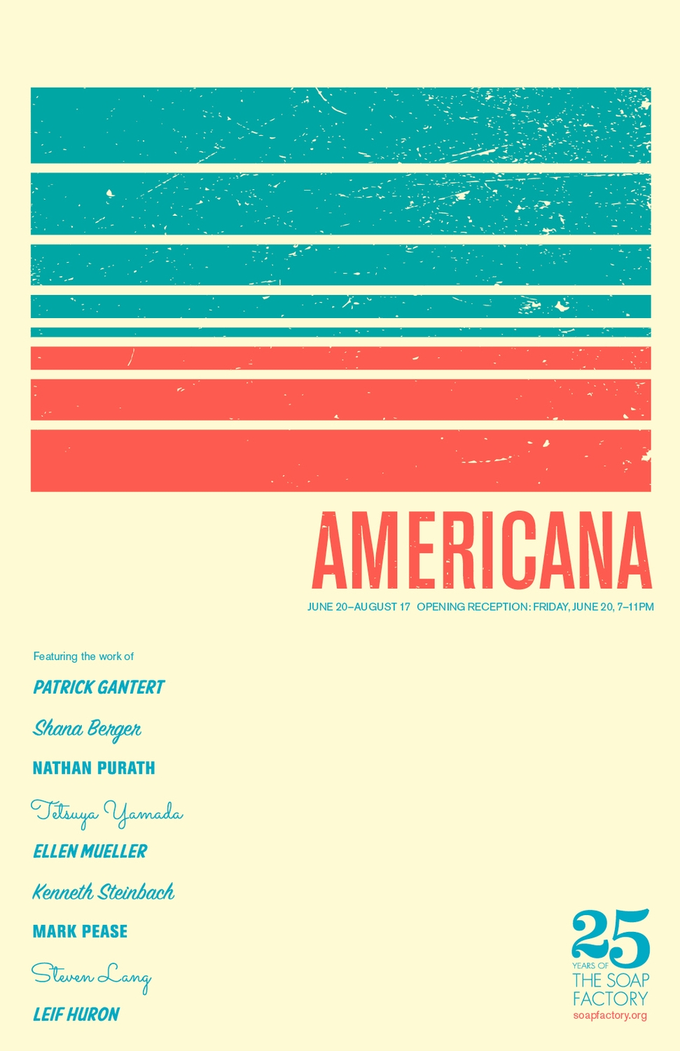 Americana mailer and screen-printed poster. Designed by The MVA Studio.