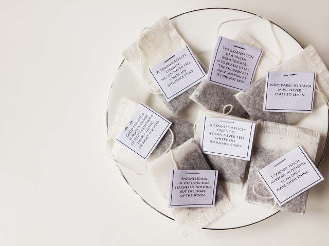 DIY :: Inspirational Tea Bags for Teacher's Day — Scissors ...
