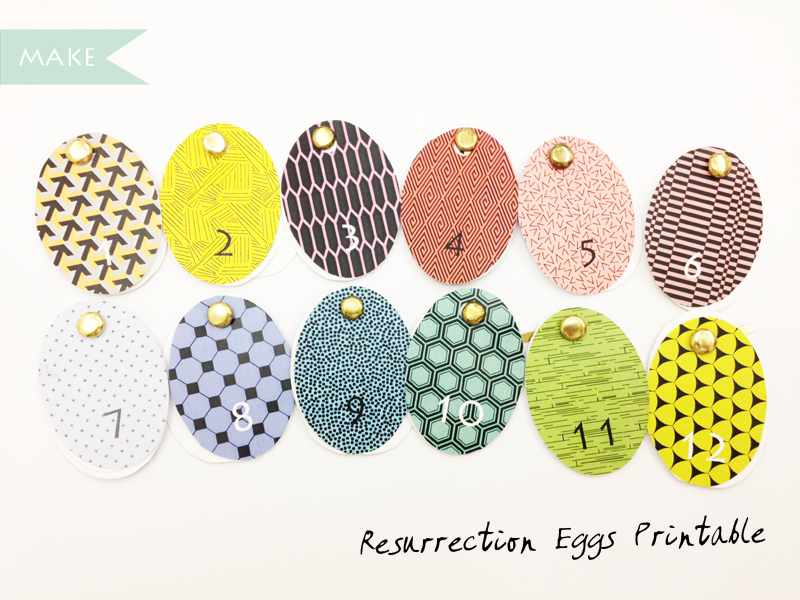 Make Resurrection Eggs Printable Scissors Paper Stone