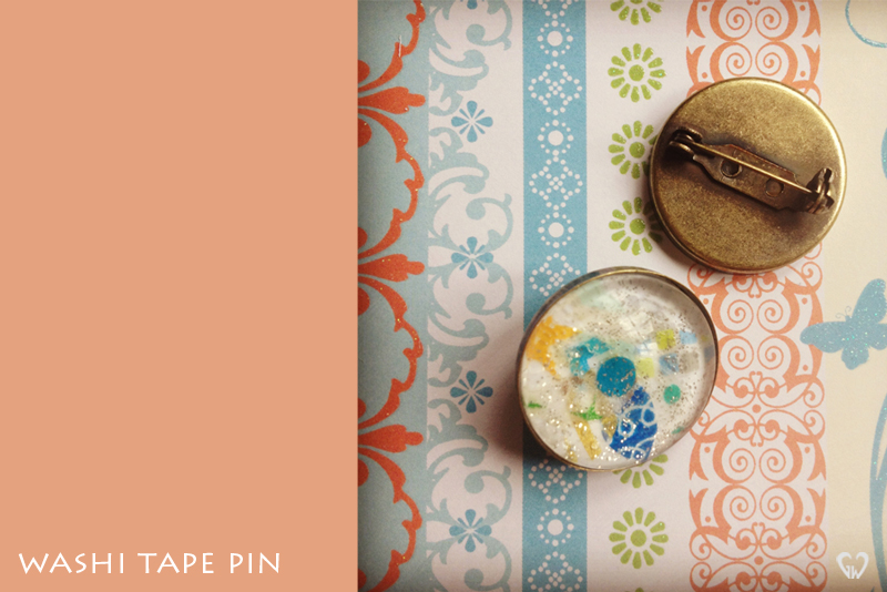 washi tape singapore brooch pin jewelry handmade