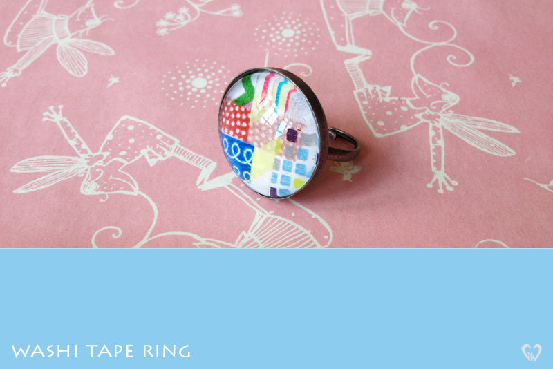 washi tape singapore ring jewelry handmade
