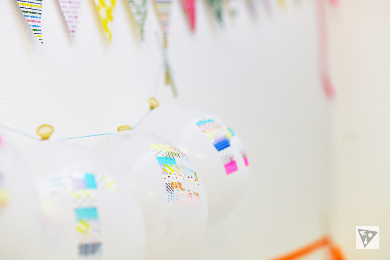 washi tape balloon bunting easter
