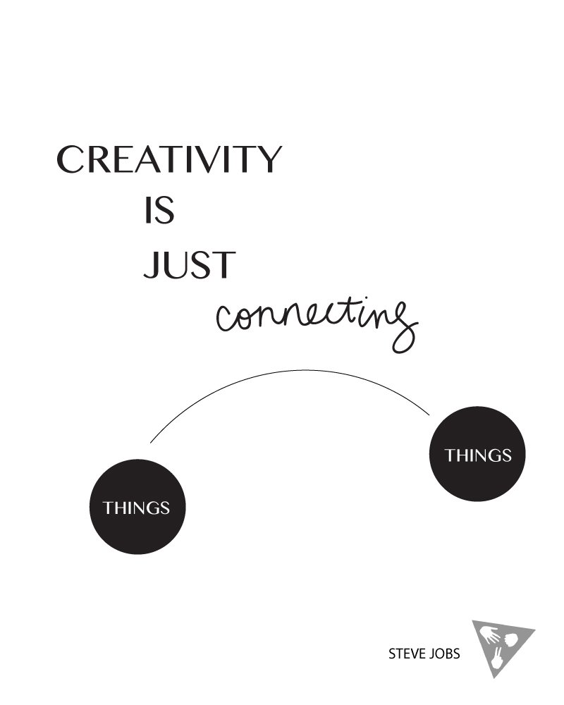 CREATIVITY IS JUST CONNECTING THINGS STEVE JOBS