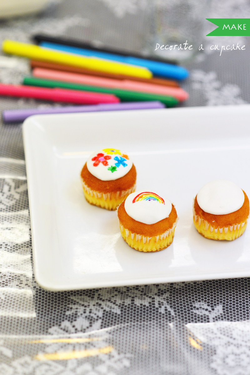 cupcake decorating fondant pens make diy craft singapore creative kids
