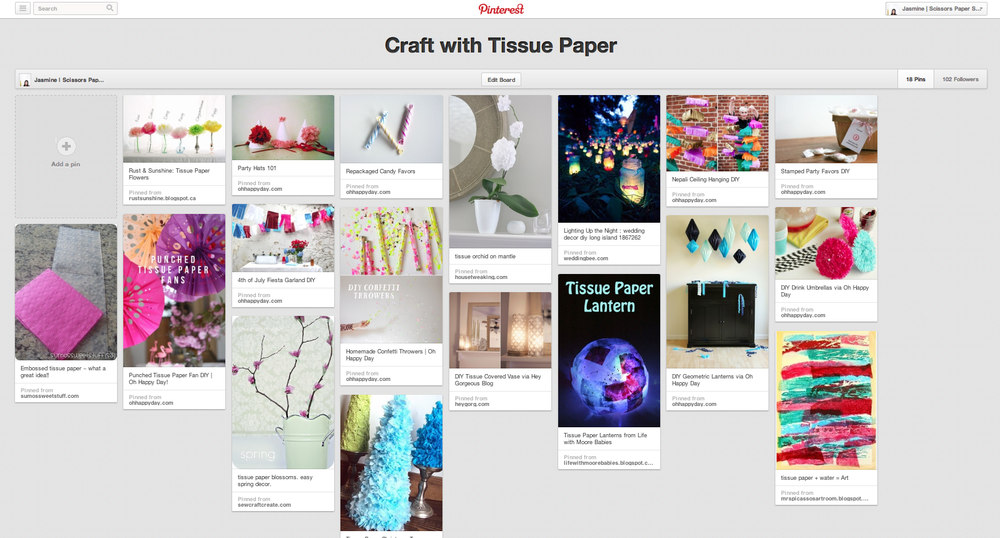 pinterest tissue paper craft diy board