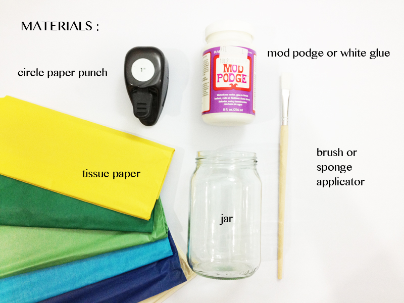 tissue paper votives circle paper punch diy craft