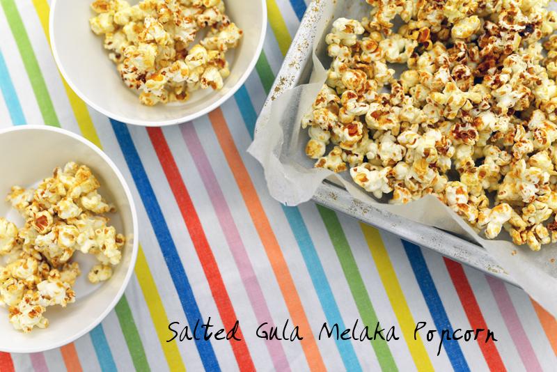 Salted Gula Melaka Popcorn Recipe via www.scissorspaperstoneblog.com