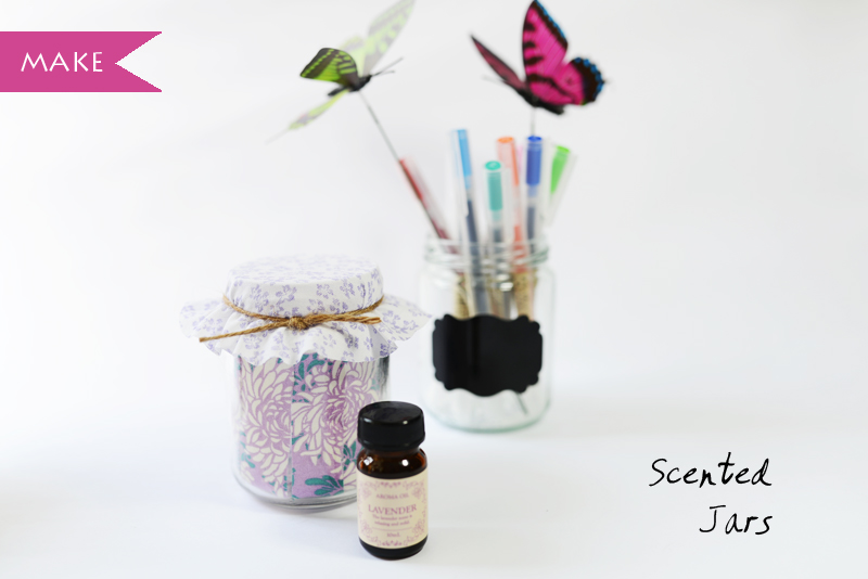 DIY Scented Jar Craft Tutorial via www.scissorspaperstoneblog.com