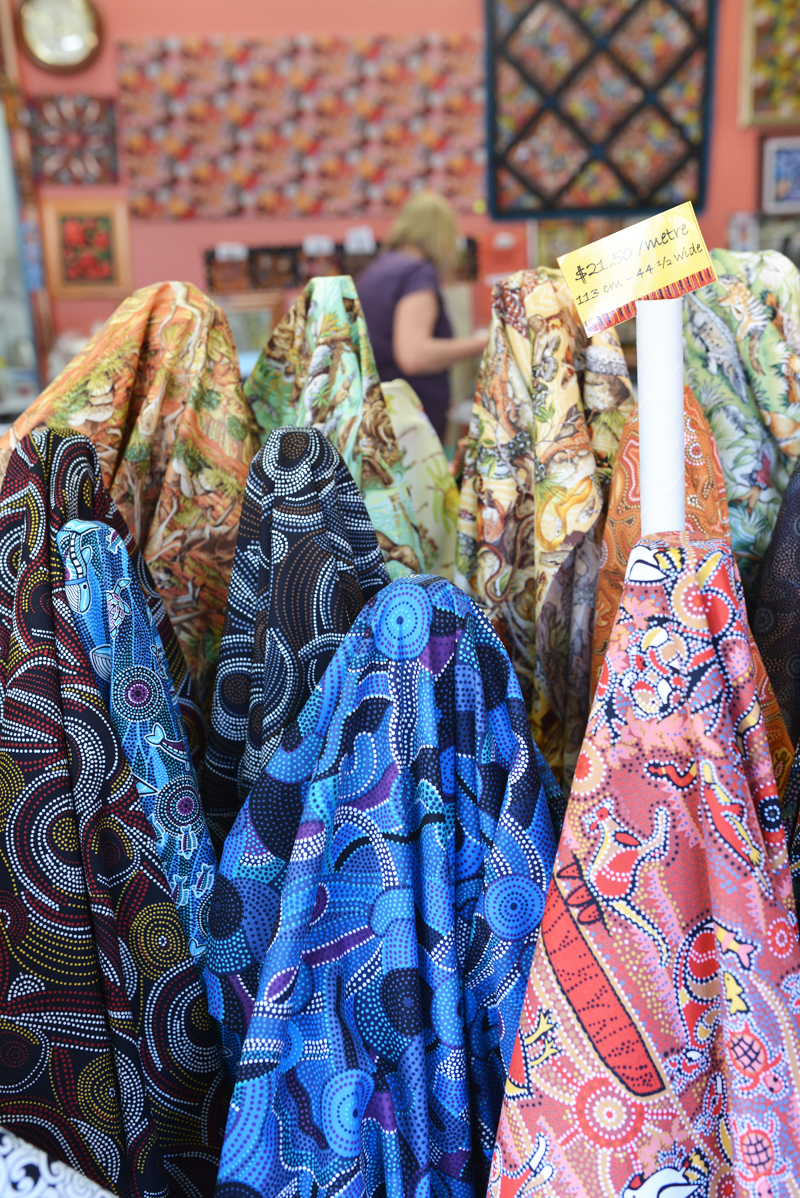 Aboriginal Fabric Gallery (Alice Springs) | Scissors Paper Stone Blog (www.scissorspaperstoneblog.com)