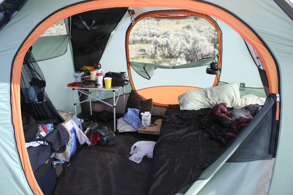 Nothing tests a relationship like living in a tent!