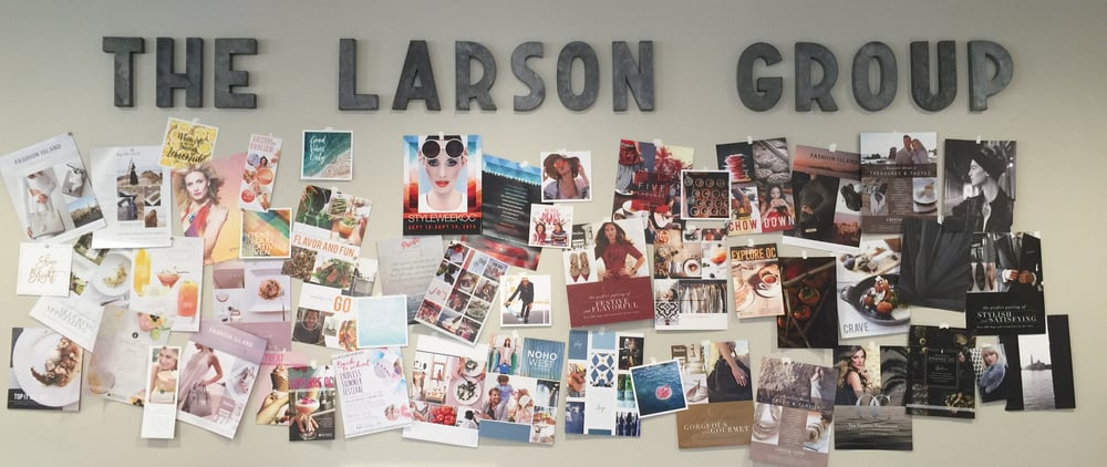 Michelle Larson -   We created a Wall of Work in our office. It's great to see what we've done...feeling inspired for all that is ahead for us in 2016.