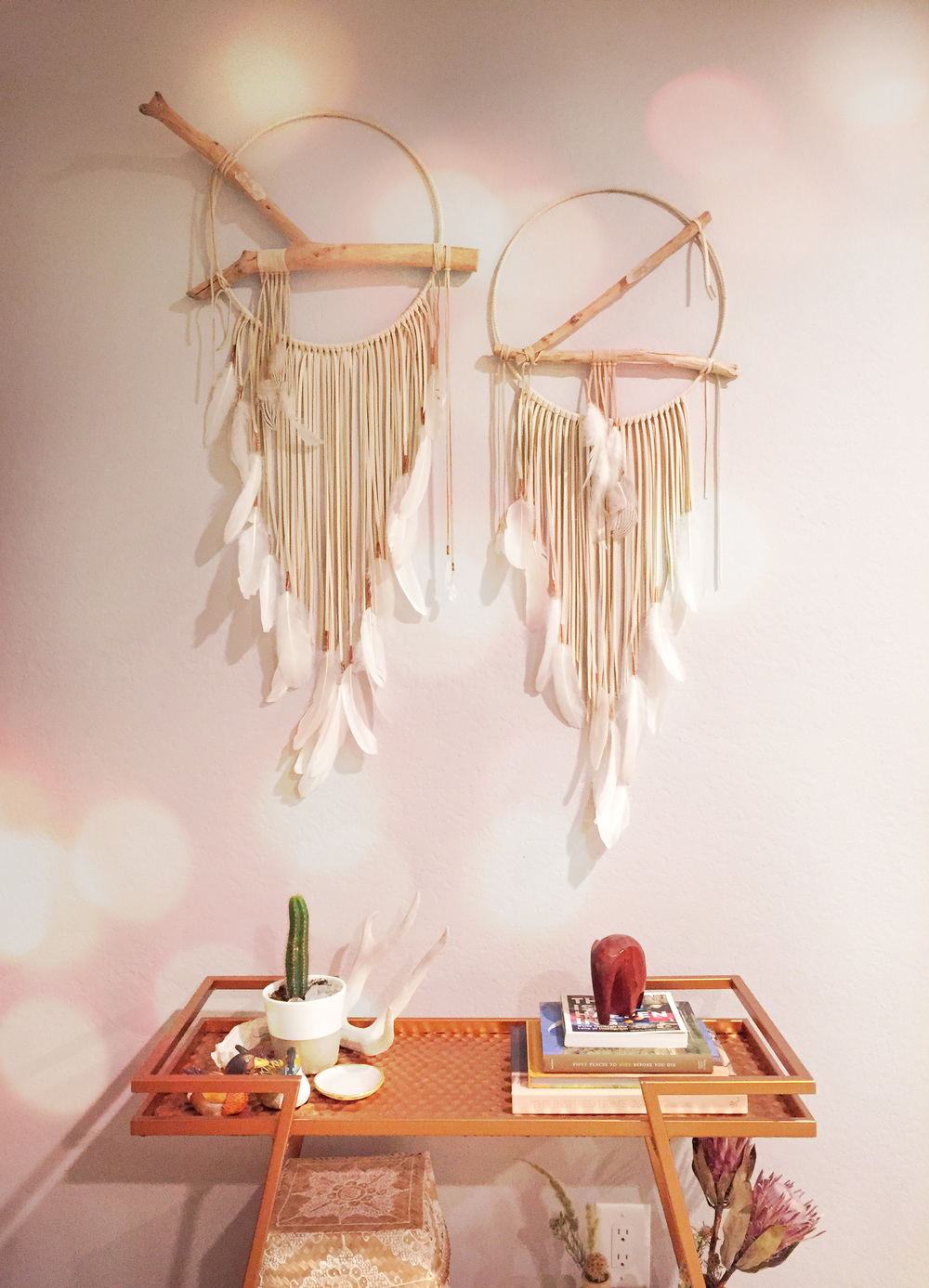Chelsea Briganti -   I made these dream catchers as part of our wedding. They now live in our home and are a constant reminder of that magical day. It was a dream come true.
