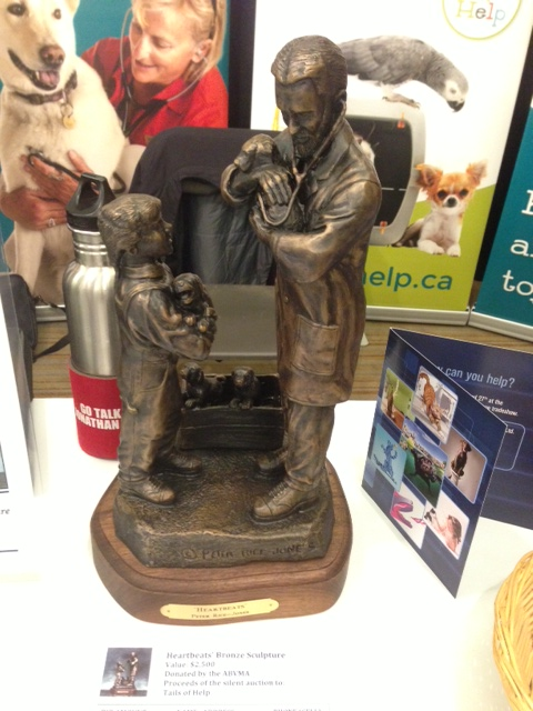 Bronze Sculpture generously donated by the ABVMA for silent auction