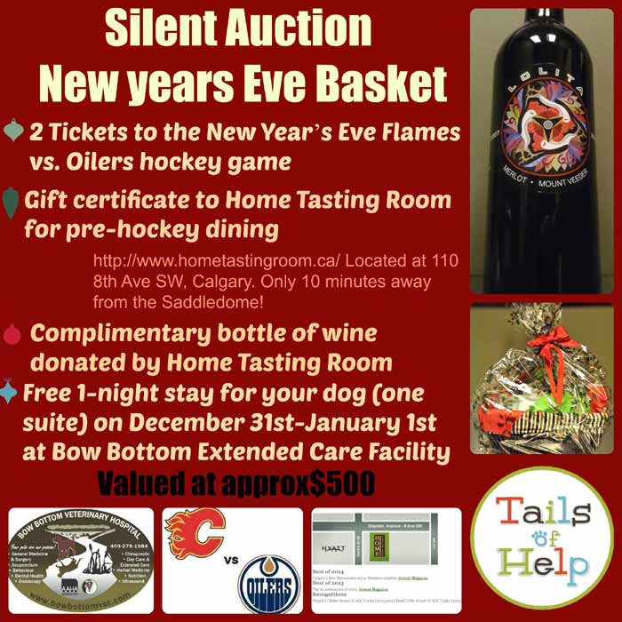 some of the Silent auction items at Bow Bottom Veterinary Hospital Holiday Fundraiser