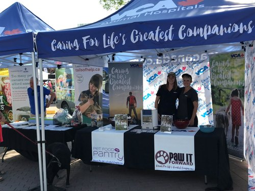 Our generous sponsors VCA Canada at Pet-a-Palooza event 2018