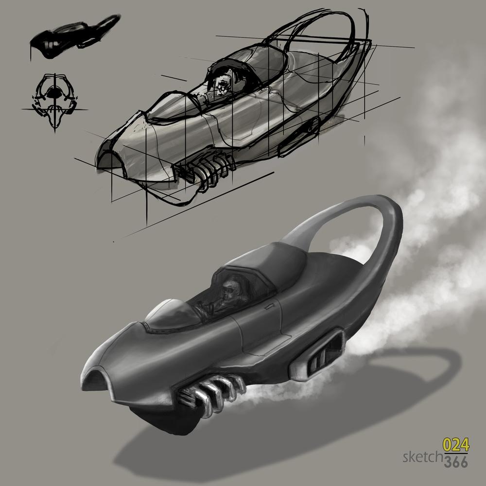 form building - hovercraft evolution - digital paint