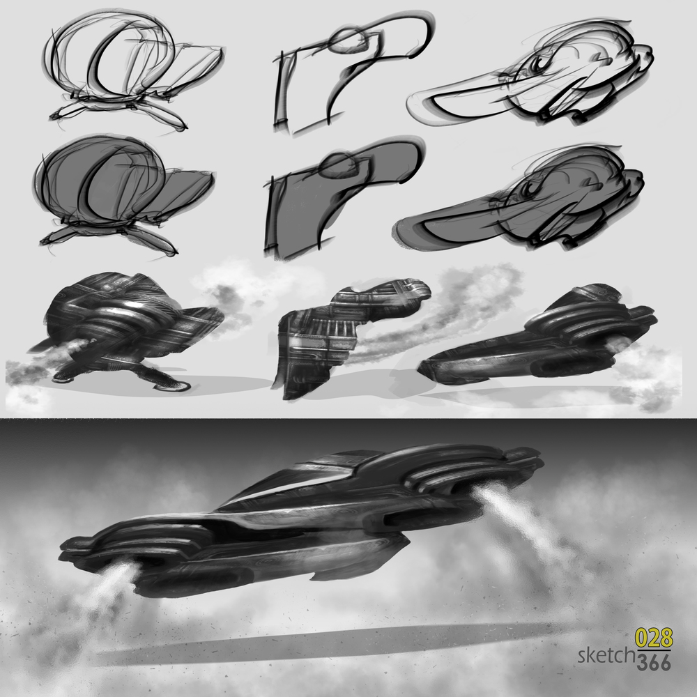 more chaos generated hovercrafts - digital paint