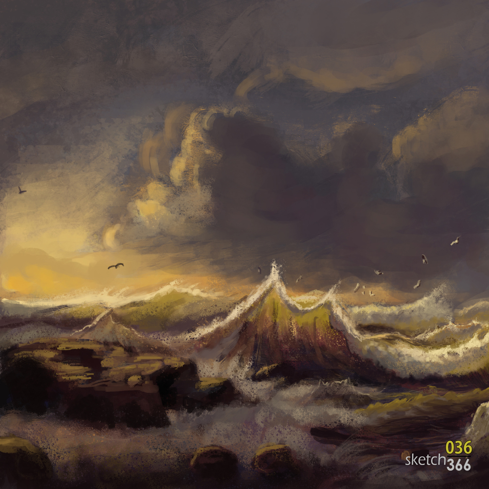 Andreas Achenbach - master study 1.1 - digital paint
