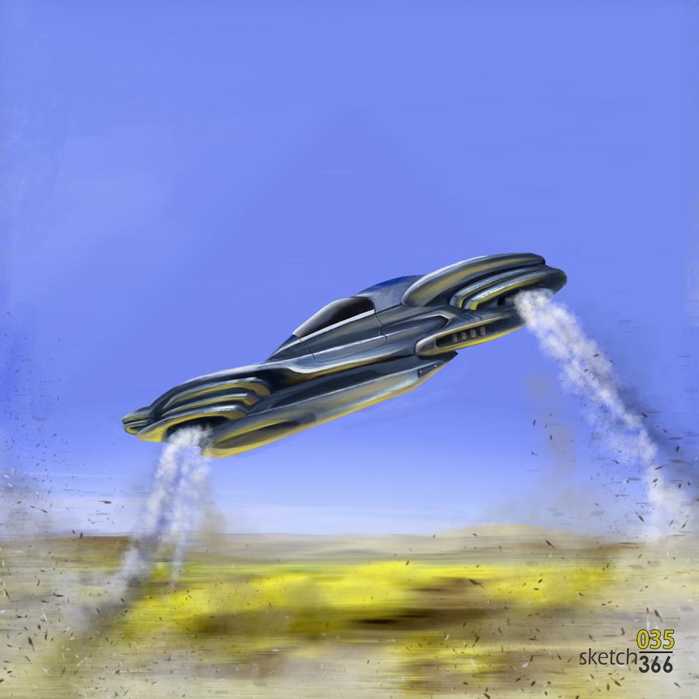 hovercraft color - digital paint