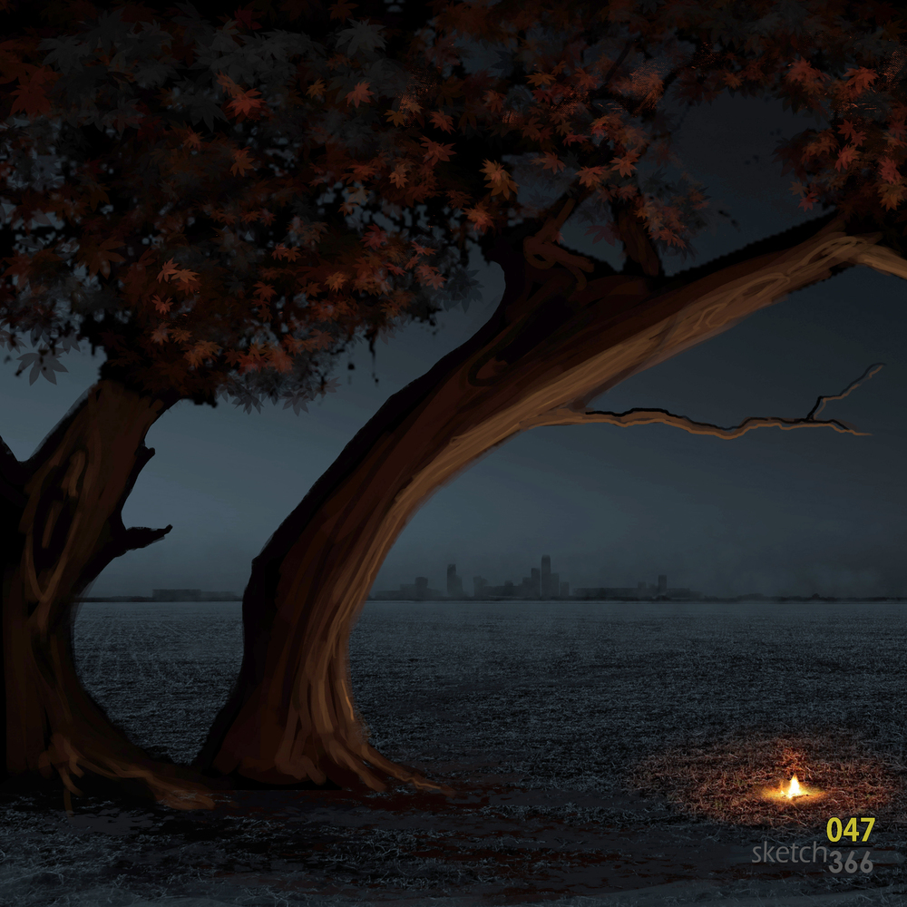 Night Light originial - digital paint/photobash