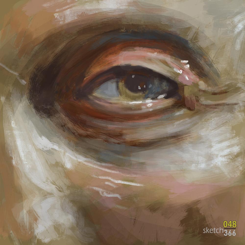 Flemish Maroger Style Master Study - digital paint
