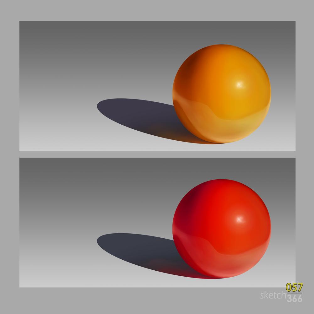 color/value/fresnel/reflection - digital paint