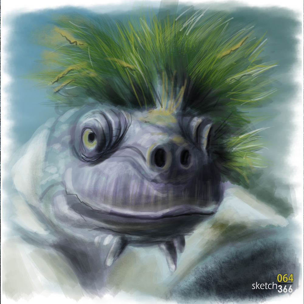 Mary River Turtle - digital paint