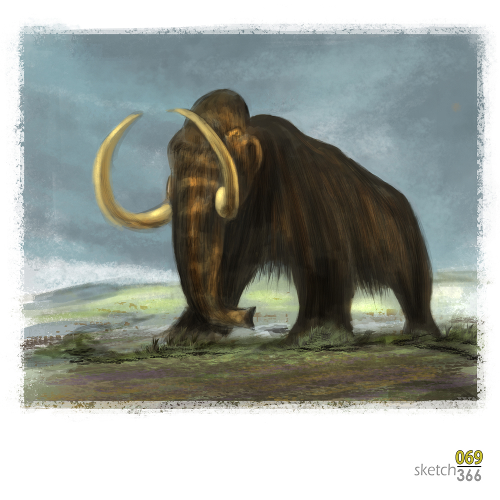 Woolly mammoth - digital paint