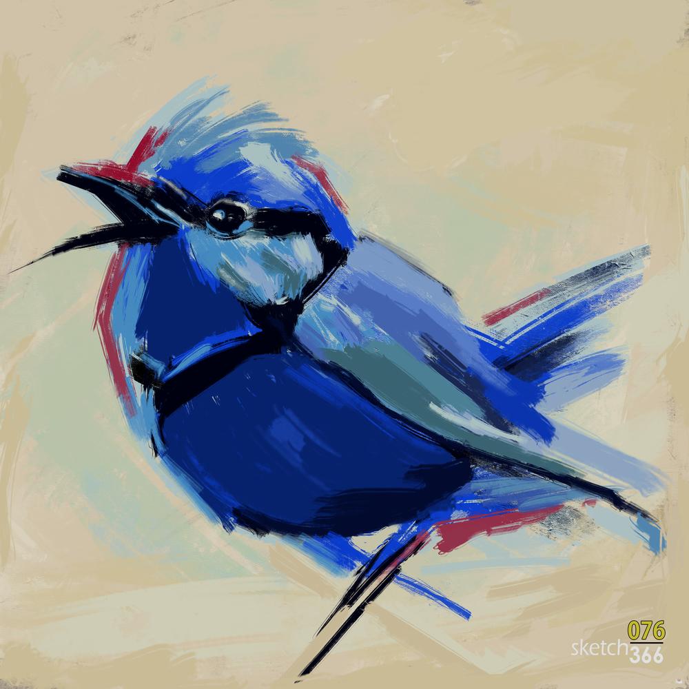 Denise Hopkins Master Study - digital paint