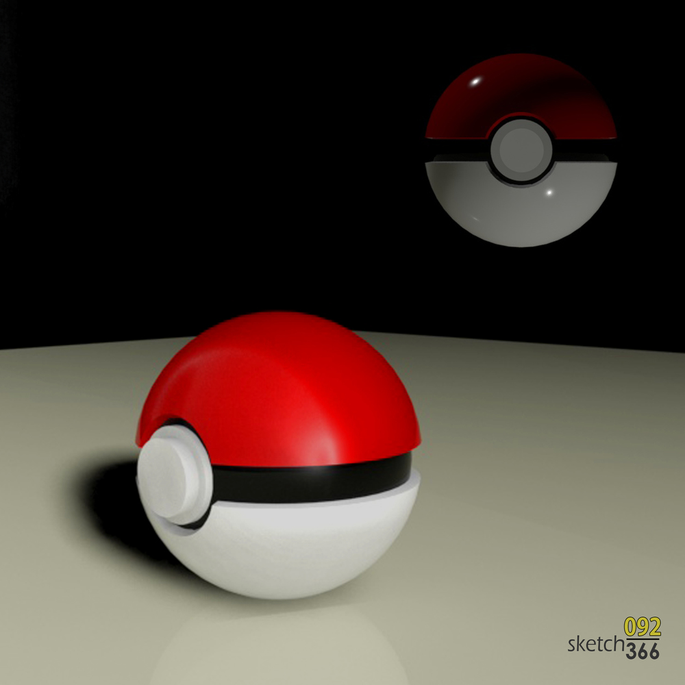 poke'ball - 3ds max