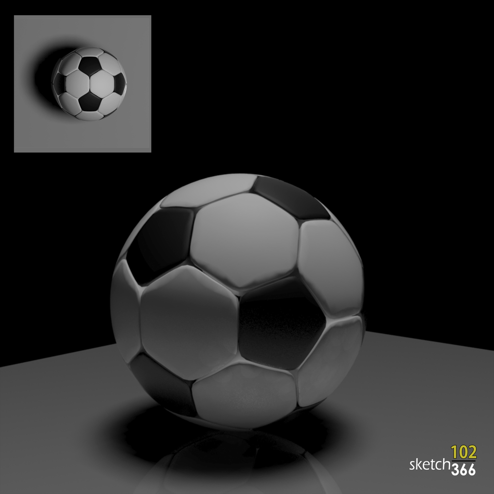 soccer ball - 3ds max