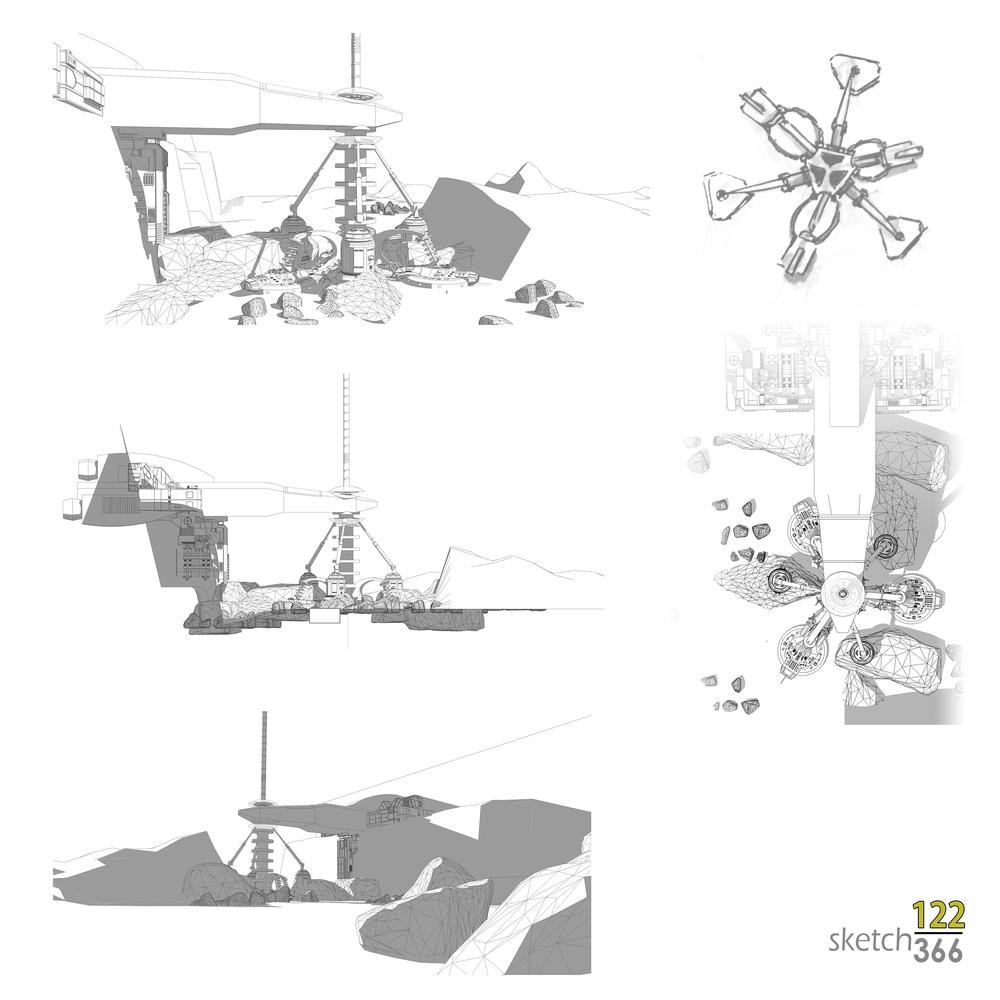 space elevator - design sketchup