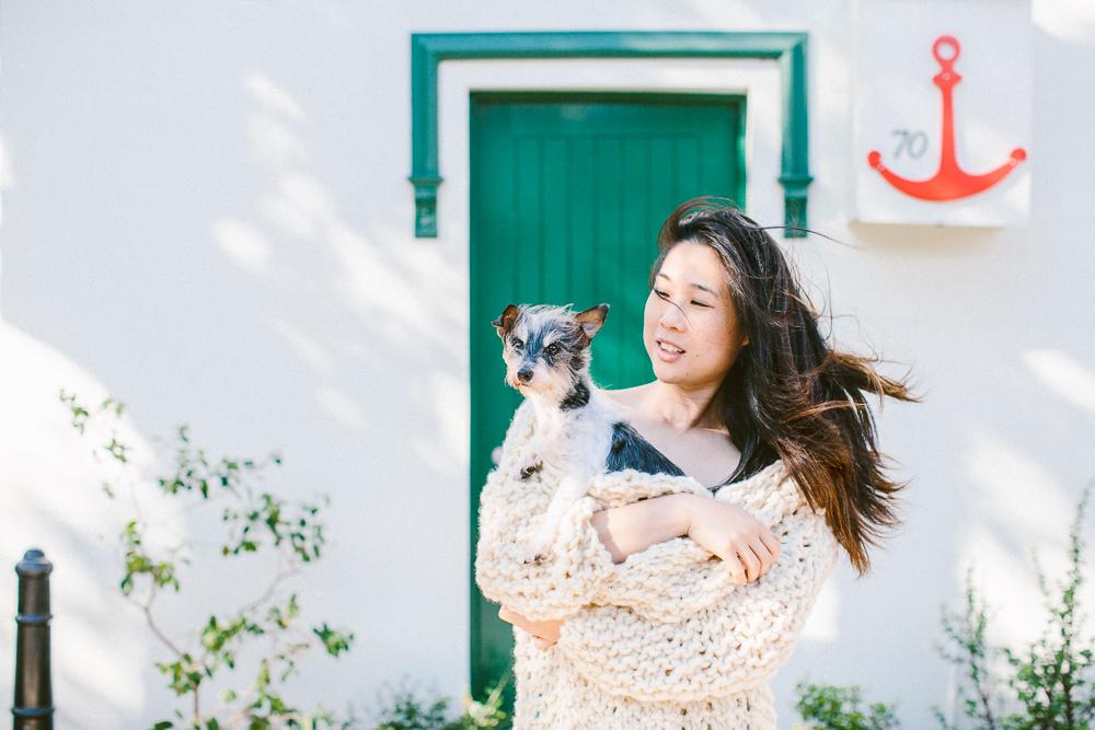 Hugo the Terrier cross with Mum, Kitty Choy of Marikit by Kitty Choy