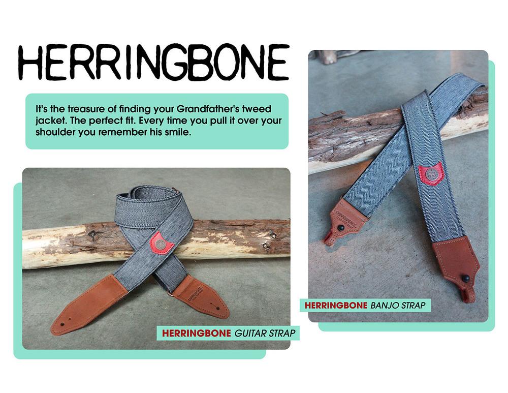 Herringbone Guitar Strap