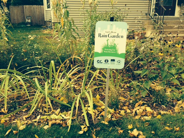 Look for the East Calhoun Rain Garden signs in the gardens throughout the neighborhood.