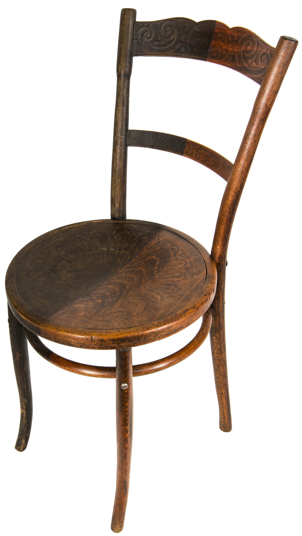 Half Stripped Bentwood Chair