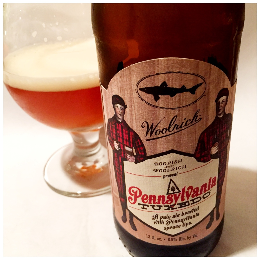 Dogfish Head's Pennsylvania Tuxedo brewed with spruce tips