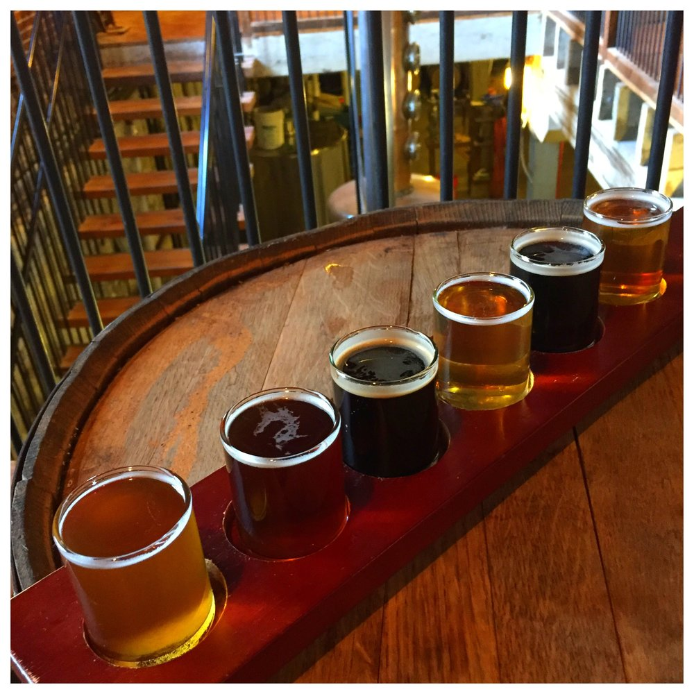 A Wacker Brewing flight