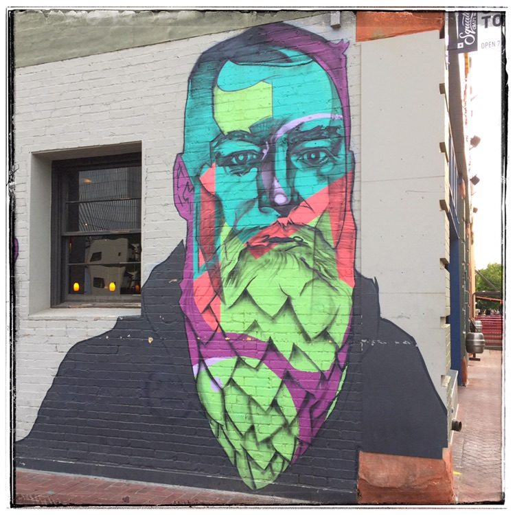 Psycedelic Hop Beard - More of the Squatter's art wall. I thought it was very cool and worth showing more than just a single image.