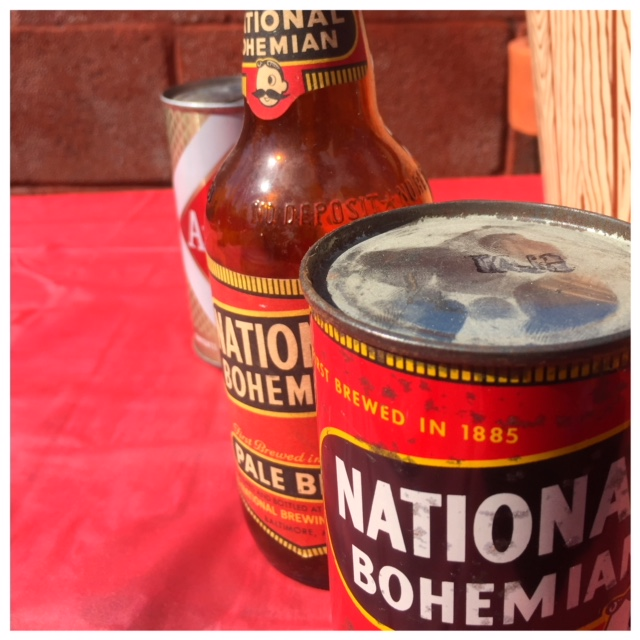 Old National Bohemian Bottle and Can