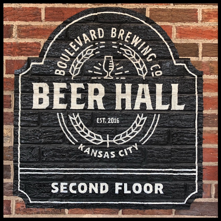 Boulevard Beer Hall - This vintage design greets you as you ready to enter the Boulevard taproom.