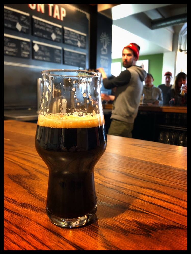 Experimental Taps - This is the bar to visit if you want to taste beers you maybe familiar with and just a bit more. View the Whiskey Barrel-Aged Imperial Stout with Raspberries 10.5% ABV.