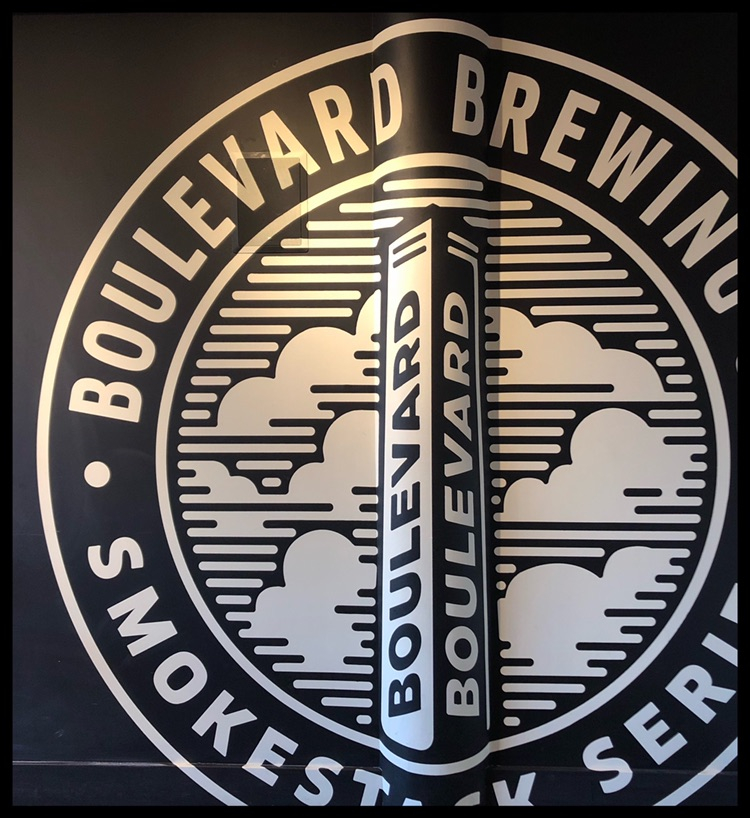 Iconic Vintage Logo - This vintage logo represents the Boulevard Smokestack Series is proudly displayed in a room just off the main tasting room.
