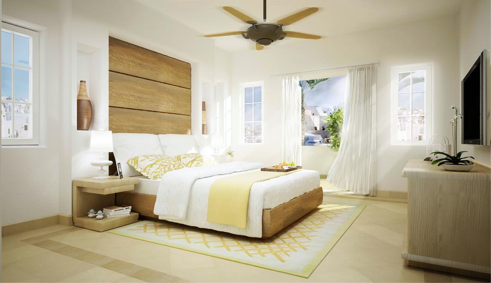 greek village at marassi - one bedroom unit master bedroom