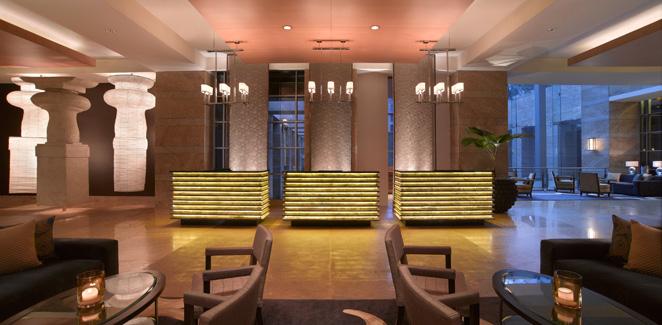 grand hyatt mumbai - reception desks