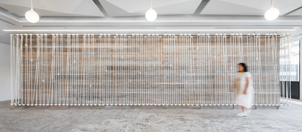 Four-wall wraparound rope installation by Windy Chien, 2016
