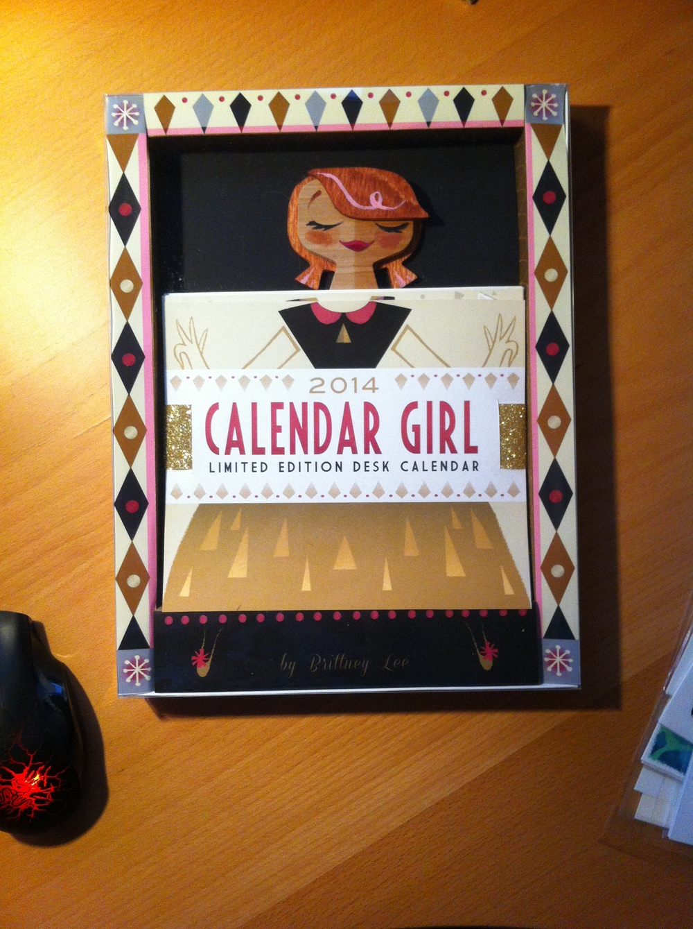 This was only one of three limited edition calendars made by Brittney Lee for CTNx  - each hand made, hand painted. She'll be selling a total of 100 on her site. My lucky Wife Renee was able to snag one. :)